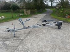 PRE OWNED BRAKED BOAT TRAILER 1000kg GROSS WEIGHT